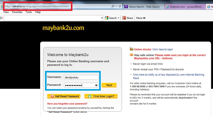 maybank2u phishing login screen