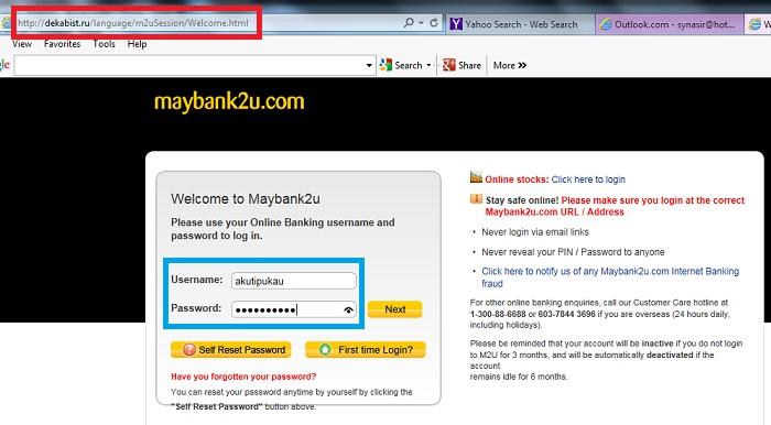penipuan maybank2u online banking