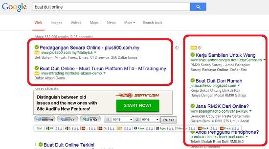 buat duit dengan google adsense