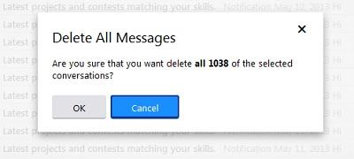 hapus email secara pukal