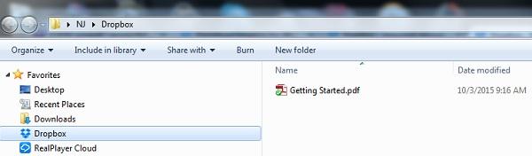 local folder dropbox
