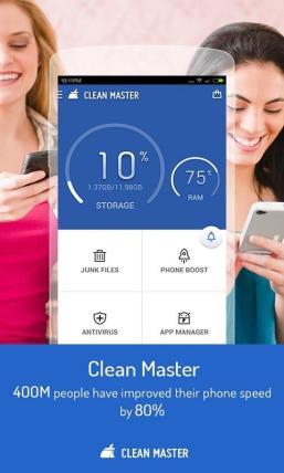 Applikasi Penyelenggaraan Handphone - Clean Master