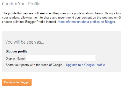 blogger profile display name