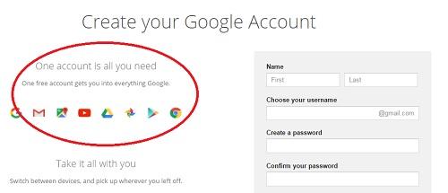 daftar akaun google