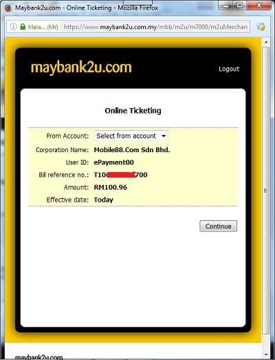 bayar melalui maybank online banking