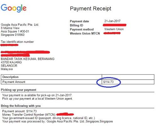 payment google adsense