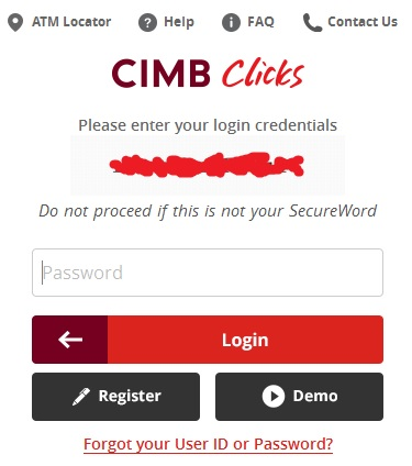cimbclicks secure word