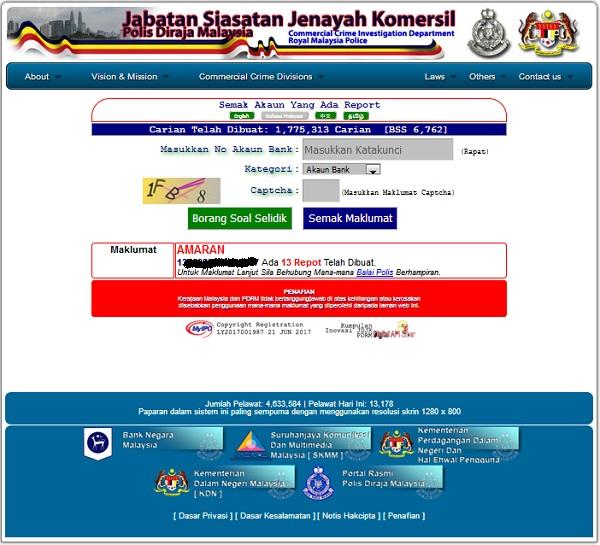 Portal semak penipuan online