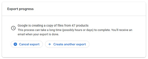 google takeout export data