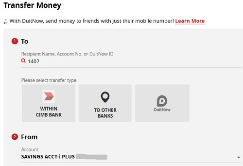 cimbclicks transfer other bank