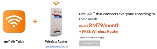 pakej unifi air