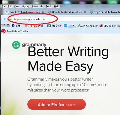 cara memasang grammarly