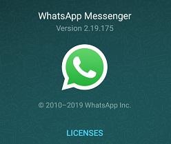 whatsapp version 2.19.175
